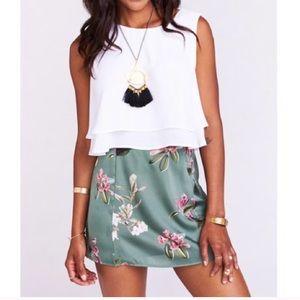 Show Me Your Mumu Huck Skirt Laura Floral Skirt S